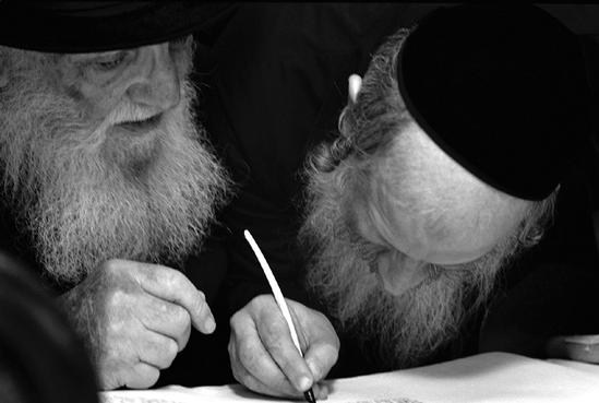 Several have suggested the missing pen tip weakens the moment. To me, the detail is the faces and the Torah, not the actual instance of the writing. Let me know your thoughts.